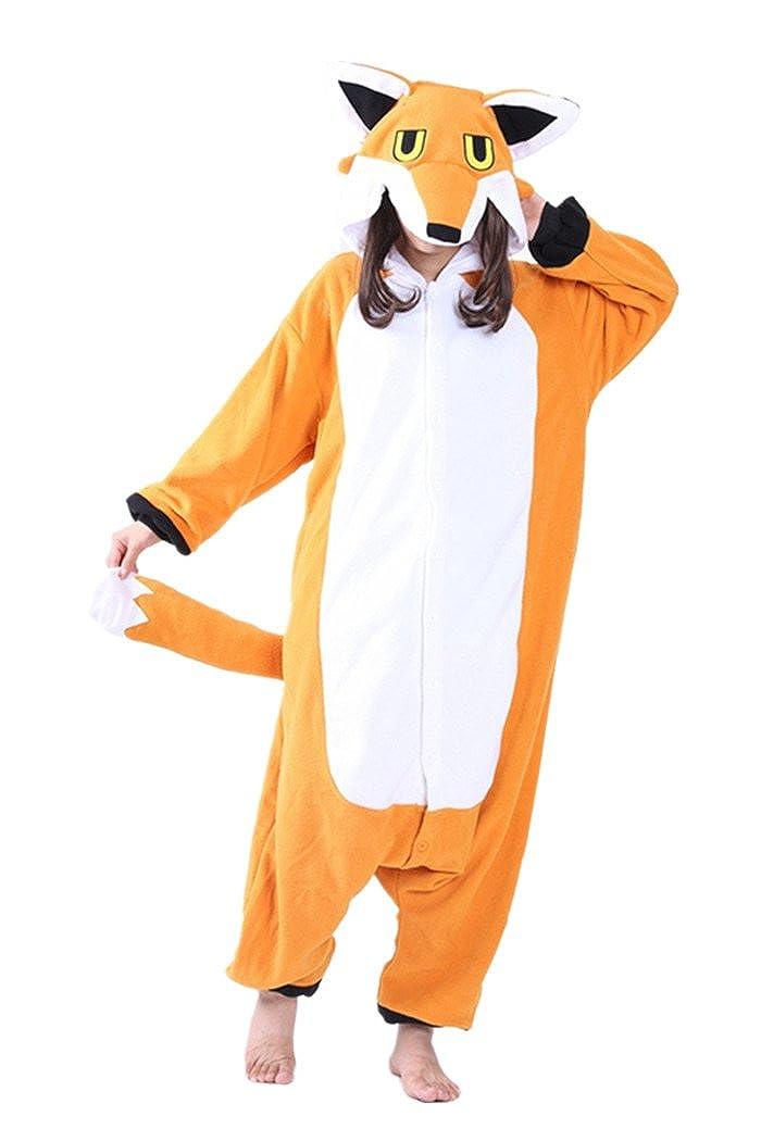 dressfan Tuta Animale Mr. Fox Pigiama Adulto Unisex Flint Costume Cosplay