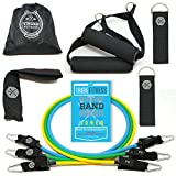 Tribe Resistance Bands Set, Exercise Bands for Working Out - Includes Stackable Workout Bands, Handles, Ankle Straps, Door Anchor, Carry Bag & Advanced eBook (45 LB Set)