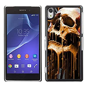 - Skull Devil Diablo - - Hard Plastic Protective Aluminum Back Case Skin Cover FOR Sony Xperia Z2 Queen Pattern
