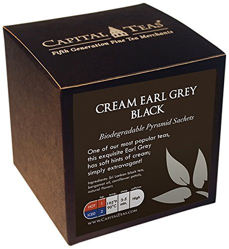 Black Grey Cream (Capital Teas Tea Sachets, Breakfast Organic)