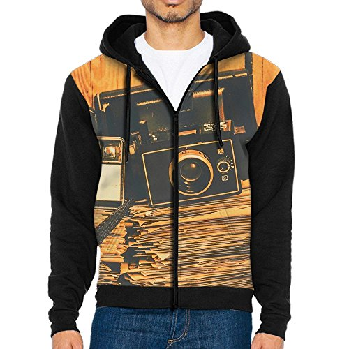 Penn Vintage Hat (PENN-TNT Vintage Cameras and Books Front Print Zipper Hoodies Pockets Hoodie Hooded Sweatshirt Jacket For Mens)
