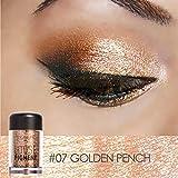 Glitter Eyeshadow Powder Waterproof Loose Shimmer Eyeshadow Pigment 3D Nude Metallic Eye Shadow Makeup Cosmetics