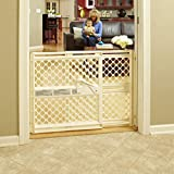 North States 42' Wide Supergate Ergo Baby Gate: Includes sockets for Extra Holding Power. Hardware or Pressure Mount. Fits 26'-42' Wide (26' Tall, Ivory)