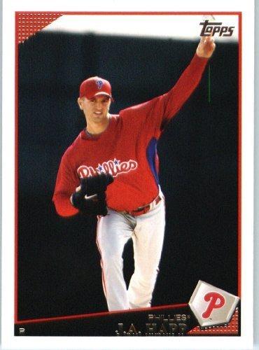 J.A. Happ - Philadelphia Phillies - 2009 Topps Update Baseball Card # UH30 - MLB Trading Card