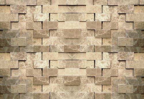 (Ideal Décor WG5203-4P-1 3D Stone Wall Mural, Neutral)