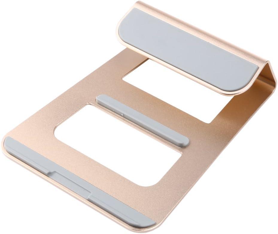 "ttnight Aluminum Alloy Hybrid Laptop Stand Cooling Pad Tablet Desktop Mount Holder Cradle for Notebook/MacBook iPad 11""-15"" (Gold)"