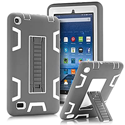 "TOPSKY Fire 7"" (2015 release) Case,[Kickstand Feature],Shock-Absorption / High Impact Resistant Armor Defender Case For Amazon Fire 7 Inch Tablet,with Stylus by TOPSKY"