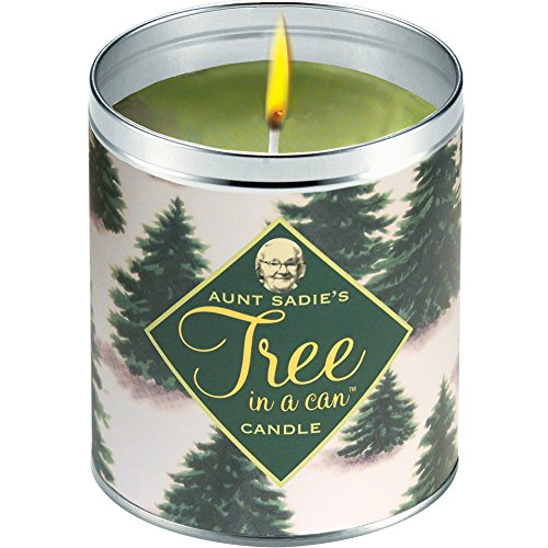 Aunt Sadie's Snowy Tree Candle, Pine by Aunt - Mall Tree Hours Store Green