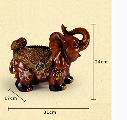 Hyun times European resin tissue box tray pumping an elephant mother napkin box creative luxury living room decoration ornaments by Hyun times tissue box (Image #4)