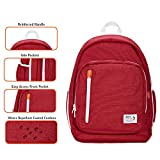 Organized Daypack Backpack Red & White | Piko