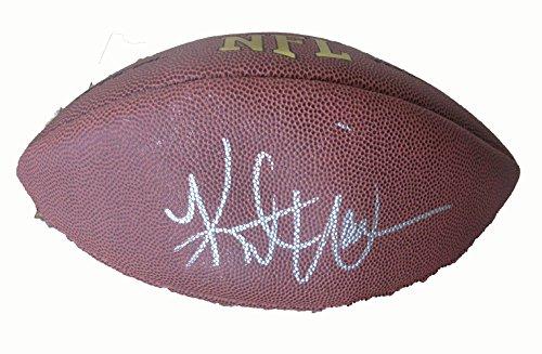 Kurt Warner Autographed Wilson NFL Football W/PROOF, Picture Of Kurt Signing For Us, St. Louis Rams, Arizona Cardinals, Super Bowl Champion, Super Bowl MVP, Pro Bowl
