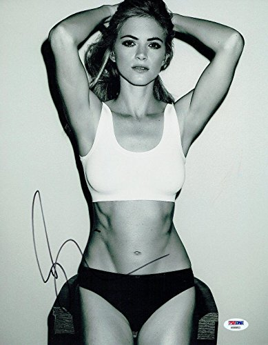 Emily Wickersham Signed Ncis Autographed 11X14 B W Photo  Ab88853   Psa Dna Certified