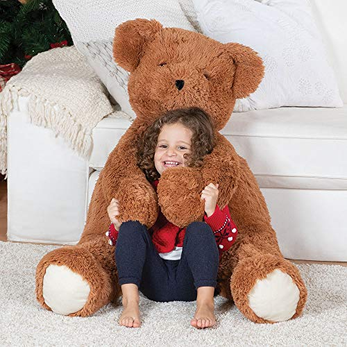 Vermont Teddy Bear - Amazon Exclusive Giant Teddy Bear, Big Stuffed Plush, 3 1/2 Feet, Brown -