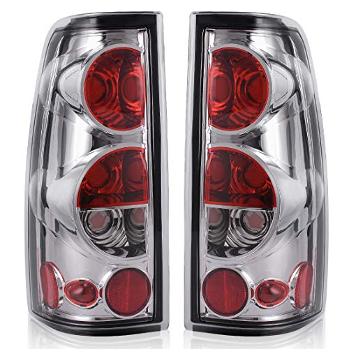 Taillights Tail Lamps For Chevy Chevrolet Silverado 1500 2500 3500 1999-2006 & 2007 with Classic Body Style GMC Sierra 1500 2500 3500 1999-2002 (Do Not Fit Barn Door/Stepside Models) ATTL2004