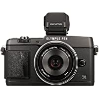 Olympus E-P5 17mm f1.8 and VF-4 16.1 MP Compact System Camera with 3-Inch LCD (Black)  - International Version (No Warranty)