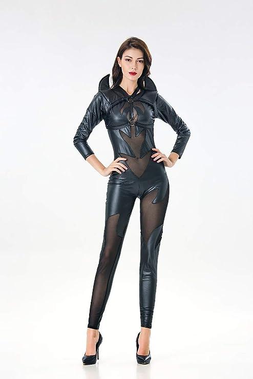 XSMG Mujer Halloween PVC Malla Jumpsuits Diablo Ropa Sexy ...
