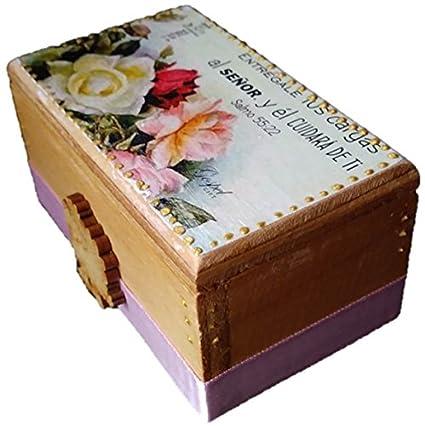 Amazon.com: Caja decorada con Promesa Bíblica pintado a mano, regalos cristianos, promesas cristianas, caja decorada, recordatorios, palabra de Dios, ...