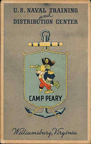 U.S. Naval Training and Distribution Center Williamsburg, Virginia Original Vintage Postcard