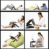 LONGKO Adjustable Laptop Desk with CPU Cooling Fans and Side Mouse Pad Portable Bed Tray Book Stand Multifuctional Ergonomics Design