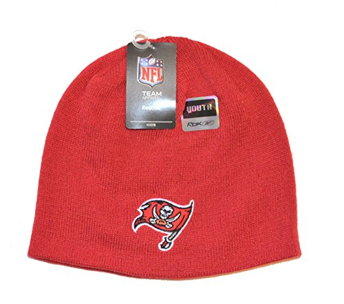 あえぎ酸化する擬人(Tampa Bay Buccaneers - Red) - NFL Child/Kid's Cuffless Beanie Hat - Youth NFL Knit Skull Winter Cap