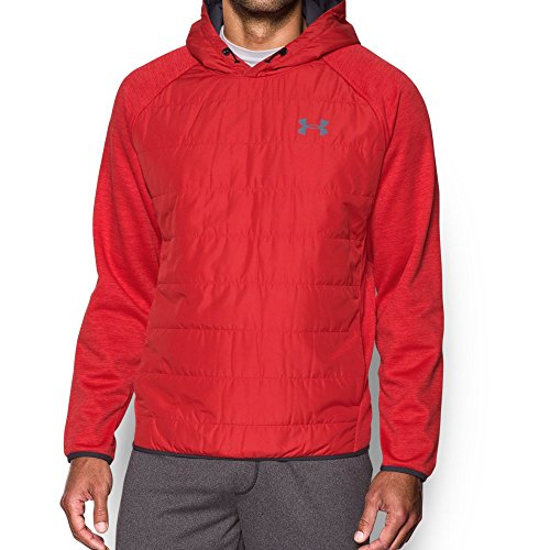 Under Armour Men's Storm Insulated Swacket Hoodie, Red/Red, Small