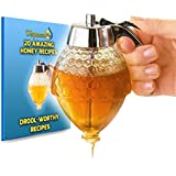 DispenseMe Honey & Syrup Dispenser - No Drip, Moderate Flow, BONUS Honey Recipe eBook, 8Oz
