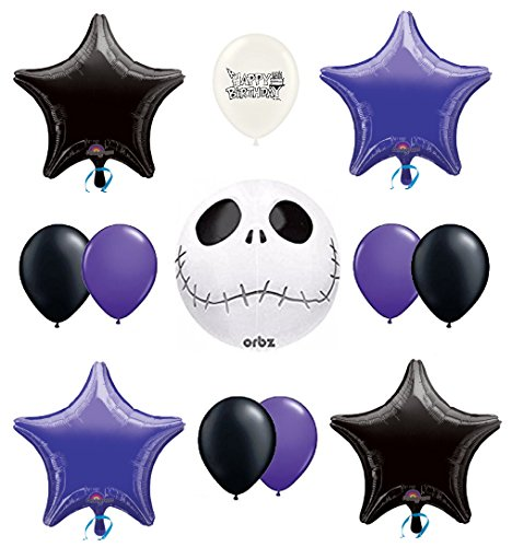 Ballooney's Jack Skellington Nightmare Before Christmas Party Balloon (Nightmare Before Christmas Birthday Supplies)
