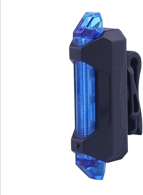 USB Recargable Bicicleta 3 Modos Luz Cola Flash LED Lámpara Luz ...