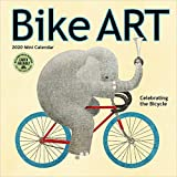 "Bike Art 2020 Mini Wall Calendar: In Celebration of the Bicycle (7"" x 7"", 7"" x 14"" open)"