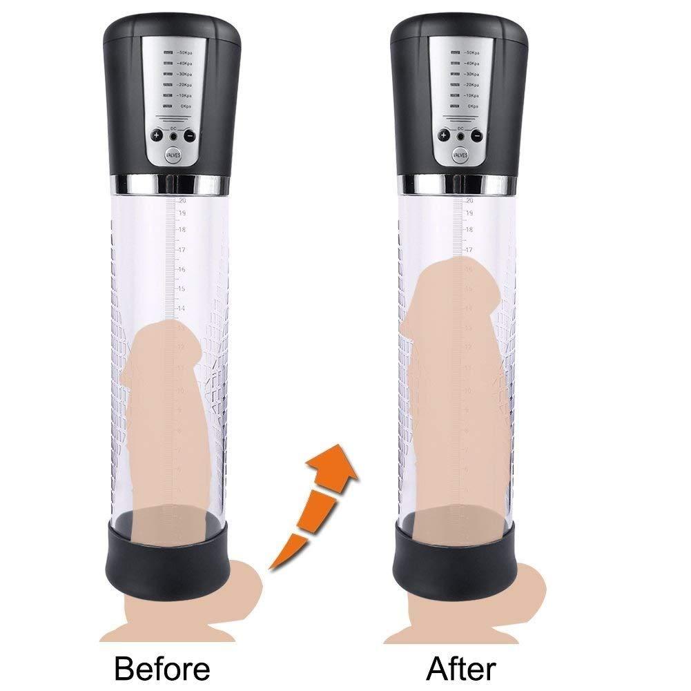 Llq Pénisgrowth Pump Automatic Pênīs Vacuum Pump Pênīs Exerciser for Stronger Bigger Êrections Rechargeable Toys