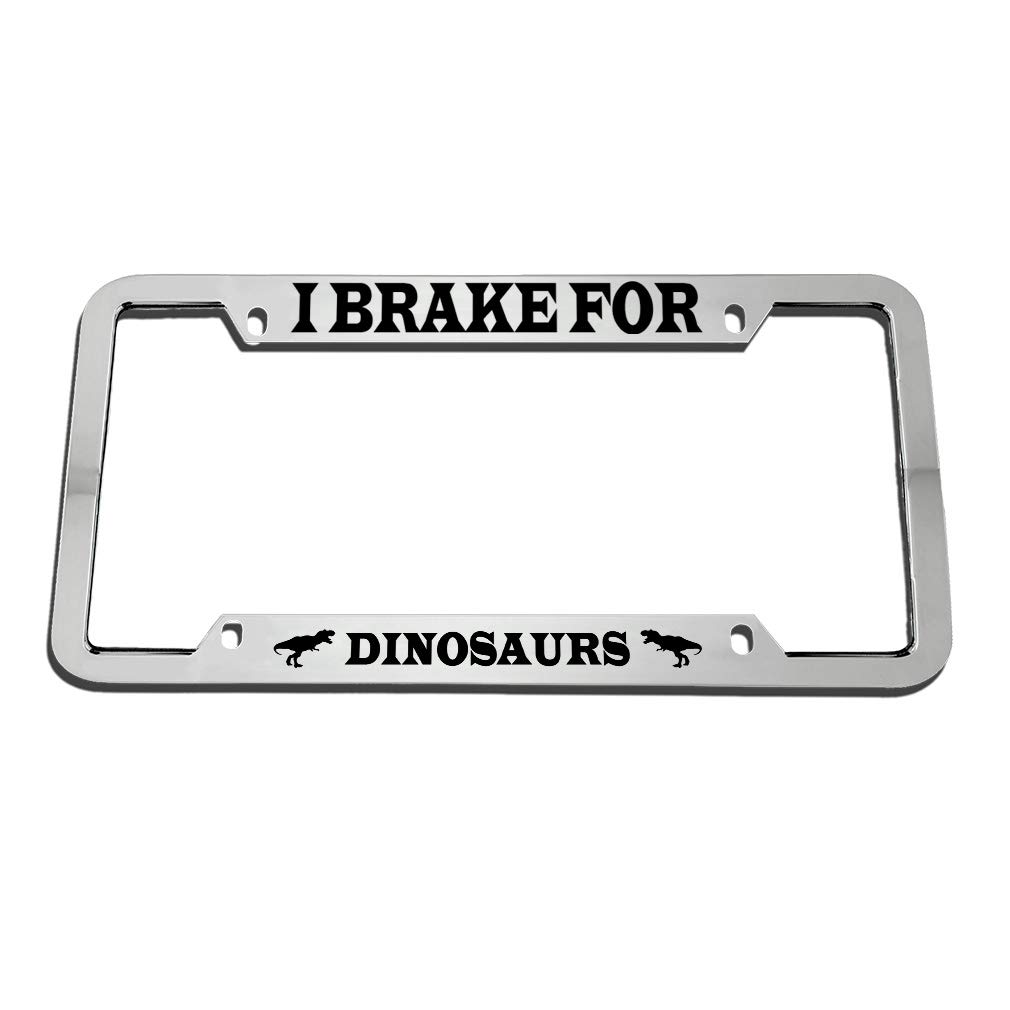 I Brake For Raccoons License Plate Frame Tag Holder