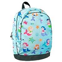 Mochila Wildkin de 15 pulgadas, mochila extra durable con correas acolchadas y forro interior resistente a la humedad, perfecta para la escuela o el viaje, diseño para niños de Olive - Sirenas
