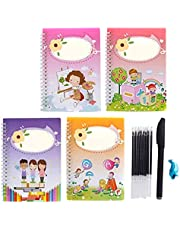 SIZHINAI Magic Writing Paste, Magic Calligraphy That Can Be Reused Handwriting Copybook Set, Writing Board Tracing Book for Kid Calligraphic Letter Writing