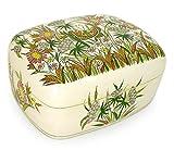 NOVICA Decorative Floral Wood and Papier Mache Box, Multicolor, 'Kashmir Butterfly'