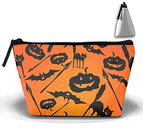 Devil Halloween Makeup Pouch with Top Handle for Men and Women ()