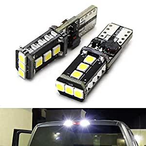 iJDMTOY (2) Xenon White High Power 9-SMD 906 912 920 921 T15 LED  Replacement Bulbs For Chevrolet Dodge Ford GMC Honda Nissan Toyota Truck  3rd Brake
