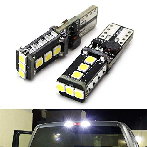 Auto Accessories Led - iJDMTOY (2) Xenon White High Power 9-SMD 906 912 920 921 T15 LED Replacement Bulbs For Chevrolet Dodge Ford GMC Honda Nissan Toyota Truck 3rd Brake Lamp Cargo Lights