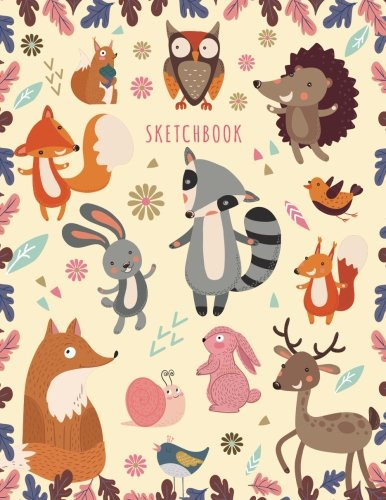 Pdf Comics Sketchbook: Sketchbook for Girls: Cute Cartoon Forest Animals! (Owl, Fox, Birds, Rabbits, Deer) Sketching Journal / Blank Drawing - Extra Large 108+ Pages (Blank Sketch book For KIDs)