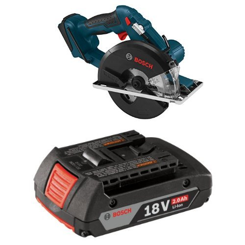 Bosch CSM180B Bare Tool 18V Lithium-Ion Metal Cutting Circular Saw with 2.0 AH battery