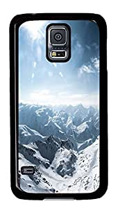 Samsung S5 cases designer Snow Under Clear Skies PC Black Custom Samsung Galaxy S5 Case Cover