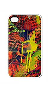 Hard Back Shell Case Cover iphone4s case cover - Pyrography And Colored Pencil Abstract Art