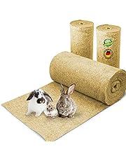 Gnagarmatta tillverkad av 100 % hampa på en rulle med 5 m längd, 80 cm bredd, 10 mm tjock, hampamatta för alla typer av små djur, hampamatta, gnagarmatta, sängbyte