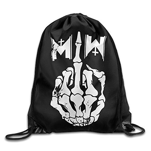 SUNG916 Motionless In White Gothic Metal Band Gym Drawstring Bags Backpack