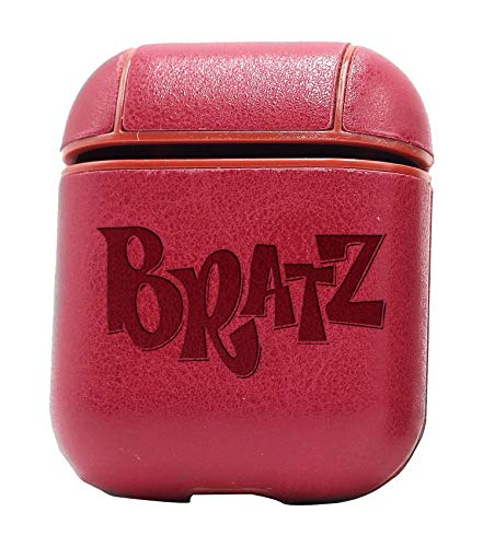 - Logo Bratz (Vintage Pink) Air Pods Protective Leather Case Cover - a New Class of Luxury to Your AirPods - Premium PU Leather and Handmade exquisitely by Master Craftsmen