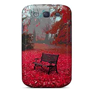 Durable Defender Case For Galaxy S3 Tpu Cover(red Autumn Leaves) by runtopwell