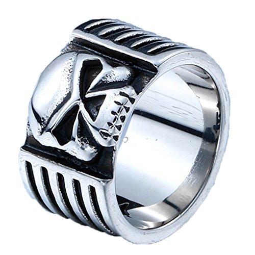 Stainless Steel Fashion Men's Rings Eye Evil Gold Silver - 7