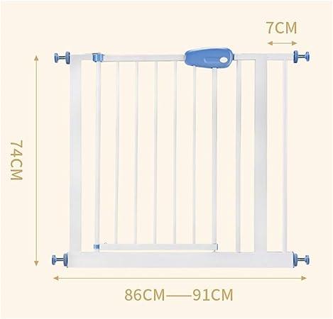 LSRRYD Barrera Extensible Perros Tubo De Acero Barreras para Puertas Y Escaleras Doble Bloqueado para Puertas Pasillos Y Escaleras (Size : 86-91+7x74cm): Amazon.es: Hogar