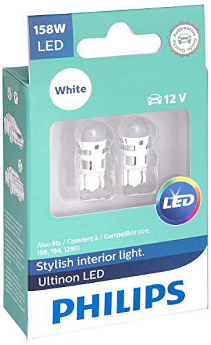 Barracuda Plymouth Trunk (Philips 158 Ultinon LED Bulb (White), 2 Pack)