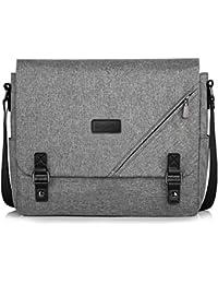 Canvas Messenger Bag Shoulder Bag Laptop Bag Computer Bag Satchel Bag Bookbag School Bag Working Bag for Men and Women (Grey 004)