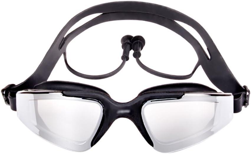 Gafas de natación Sin fugas Anti-Niebla Protección UV con tapones auditivos de una pieza, Gafas de natación Cómodo apto para hombres adultos Mujeres Niños menores Niños (3 colores opcionales)
